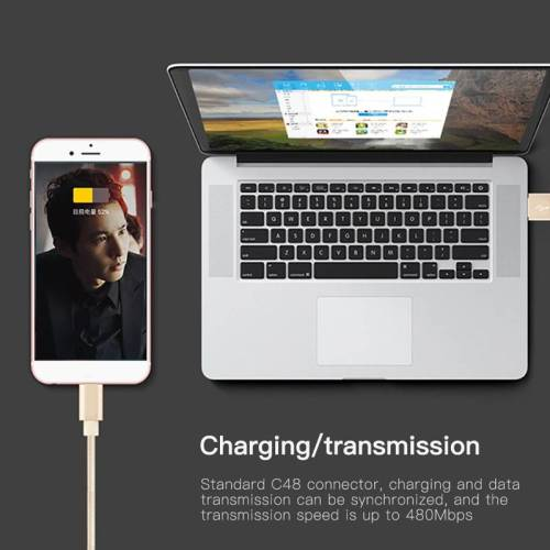 Nylon USB Fast Charging Cable For Apple iPhones & iPad – Lighting Cables USB Phone Cables cb5feb1b7314637725a2e7: 1PC Cable Cilp|Black|Gold|Rose Gold|Silver