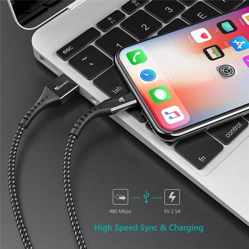 Fast Charging USB Cable For iPhones – Universal Data Cord USB Phone Cables cb5feb1b7314637725a2e7: Black|Red