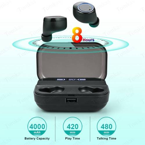 Wireless Earphone Bluetooth Power Display Touch Control – Sport 9D Stereo Cordless Earphones & Headphones cb5feb1b7314637725a2e7: T10 black X11 black X11 white