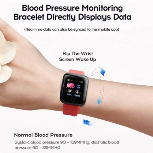 Blood Pressure Smart Watch Heart Rate Wristband Sports Bracelet Wrist Watches cb5feb1b7314637725a2e7: Black|dark blue|Green|Purple|Red