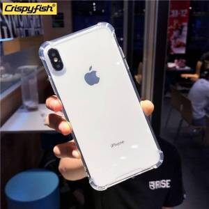 Shockproof Bumper Transparent Silicone Phone Case For iPhones Phone Cases & Cover d92a8333dd3ccb895cc65f: For 6s|For 6s plus|For i6|For i6 plus|For i7|For i7 plus|For i8|For i8 plus|For X|For XR|For XS|For Xs Max
