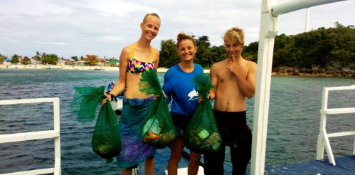 malapascua underwater clean up