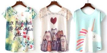 camisetas-estampadas-manga-corta-mujer-algodon-poliester-chollo-baratas-aliexpress
