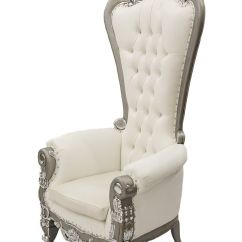 White Club Chairs Resin Folding Silver Throne Chair