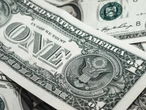 A one-dollar bill