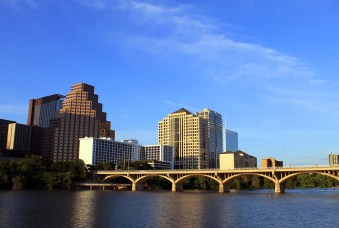 Downtown Austin on a beautiful day