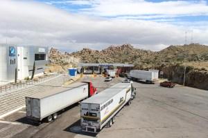 Moving trucks.