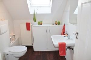 Unpacked bathroom
