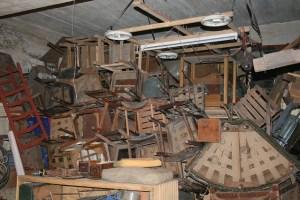 Junk in a basement