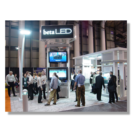 BetaLED = Trade show booth graphics