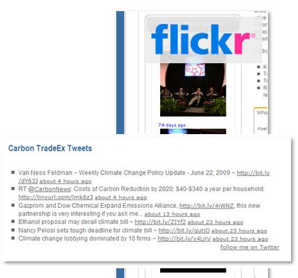 Social Media: Twitter & Flickr