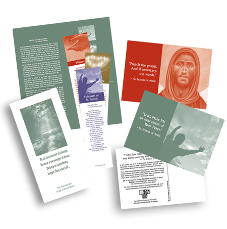 Order of the Friars Minor (Recruitment Brochures, Bookmarks, Postcards, Direct Mail)