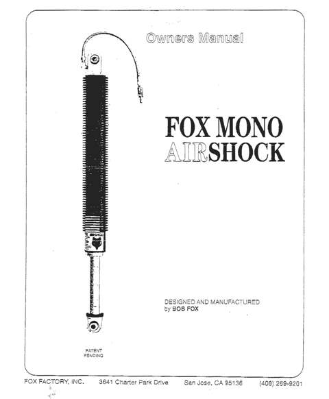 Fox MonoShock Parts