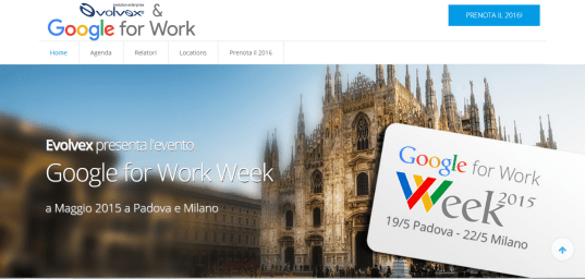 Google for Work Vicenza - Web Marketing per Evolvex Vicenza