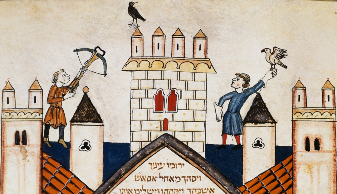 An illustrationfrom a 1299 manuscript of the Hebrew Bible by Joseph Assarfati of Cervera, Spain.DeAgostini/Getty Images.