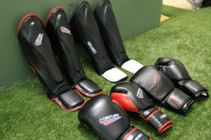 Adult martial arts sparring and training gear