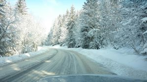 Snow-Covered-Road-Widescreen-Wallpaper
