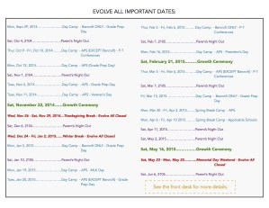 Important Dates Flyer COLOR JPEG - Important Dates Flyer COLOR JPEG