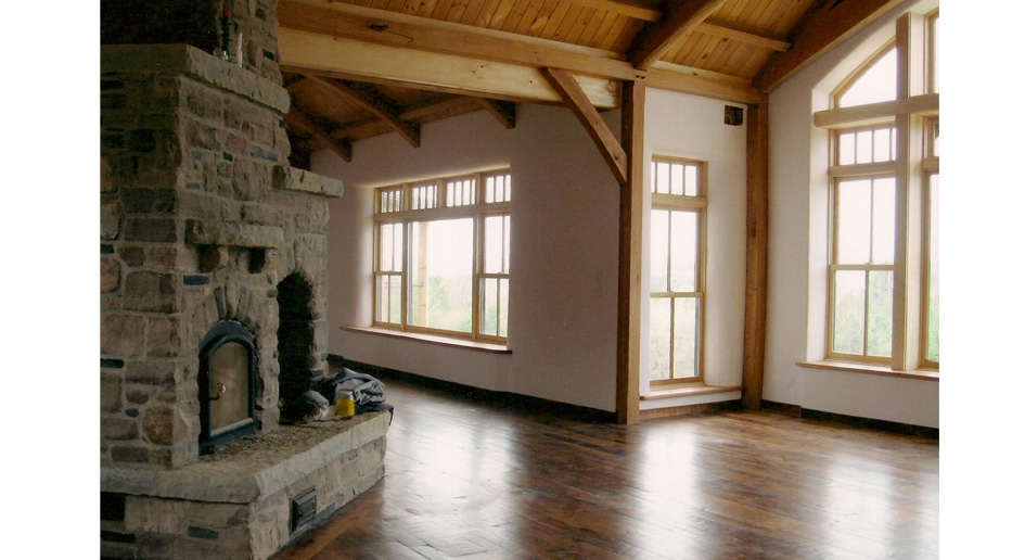 Timber Frame House with Straw Bale Walls Clay Floors