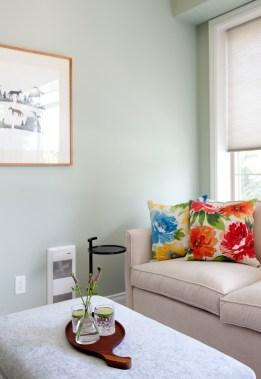 Pool House, custom furniture, bold colours
