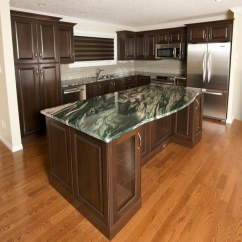 How To Make Kitchen Cabinets Shelving Portfolio By Evolve Kitchens In Calgary Custom Dark Oak And Green Marble