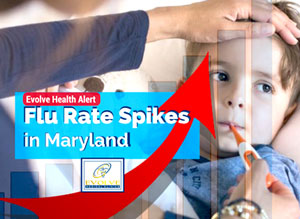 Influenza Rate Spikes in Maryland