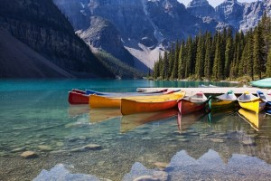 photodune 467202 canoes on moraine lake m SMALLER - Canoes on Moraine Lake