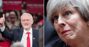 Corbyn May Poll Lead
