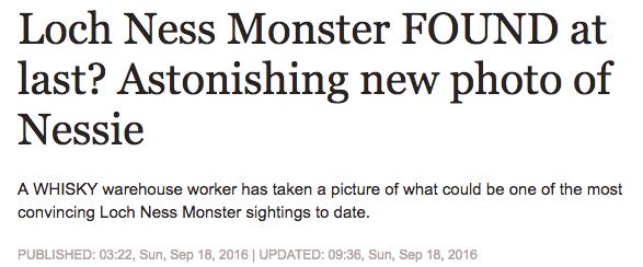 Express Loch Ness Monster