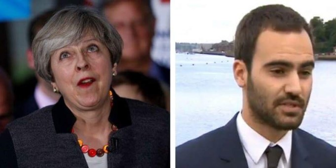 Matt Zarb-Cousin Theresa May
