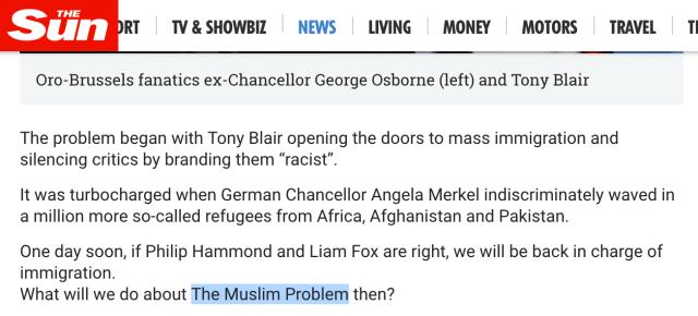 The Sun Muslim Problem