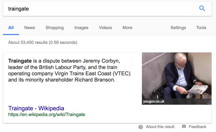 Jeremy Corbyn Traingate Wikipedia