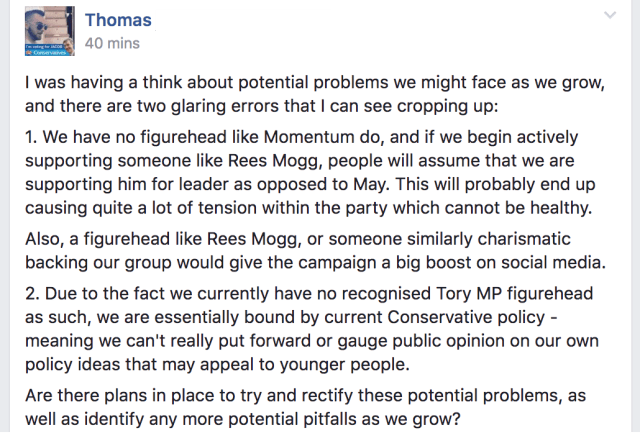Post 1 Tory Thomas Activate