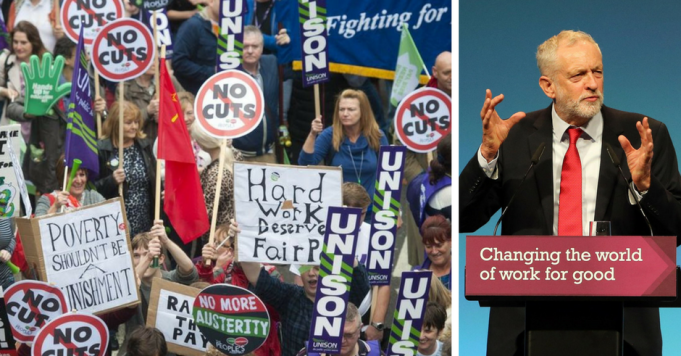 Trade Union Strike, Jeremy Corbyn Speech