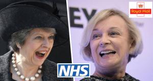 Theresa May Moya Greene Royal Mail £68m
