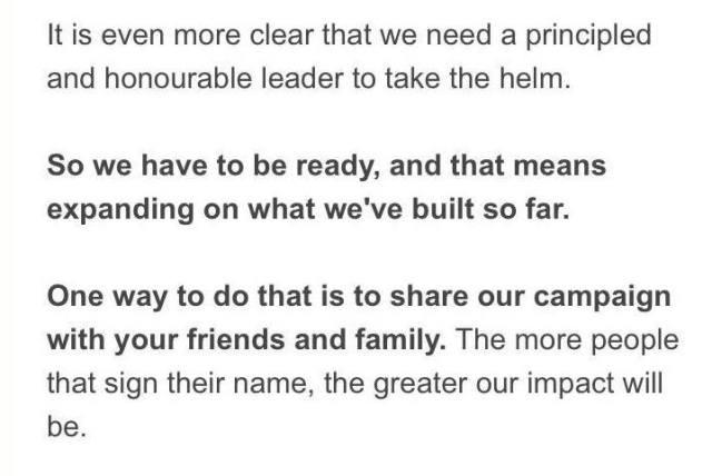 Rees-Mogg Leadership Bid 2