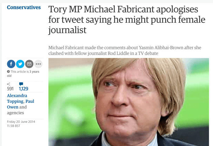 Tory MP says he's never threatened to punch a woman, after apologising for threatening to punch a woman
