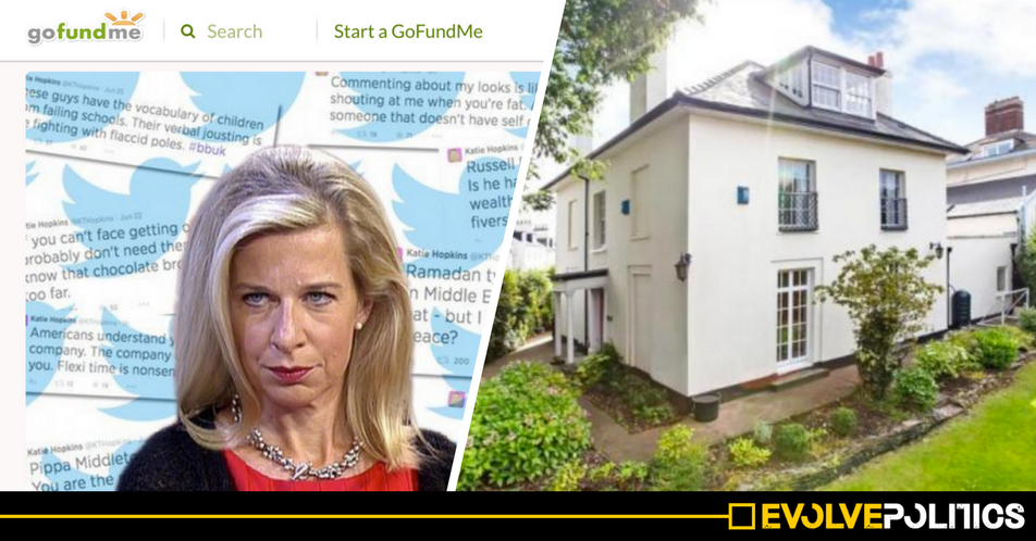 People are crowdfunding to buy Katie Hopkins' house to turn it into a Refugee Shelter