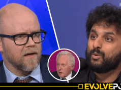 """WATCH: Comedian absolutely eviscerates Toby Young for his """"dark Nazi"""" links on Question Time [VIDEO]"""