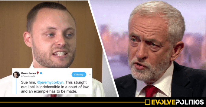Jeremy Corbyn urged to sue Tory MP who accused him of selling