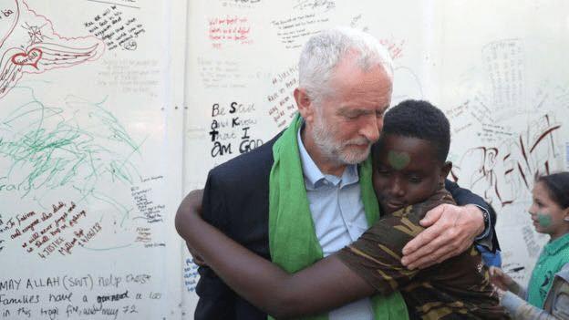 Corbyn Grenfell Anniversary Hug