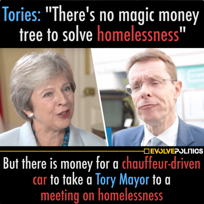 Tory Mayor bills taxpayer £530 for CHAUFFEURED car to HOMELESSNESS MEETING