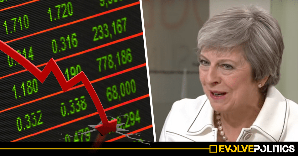 "Theresa May is ""planning to engineer a FINANCIAL CRASH"" to blackmail MPs into voting for her Brexit deal 