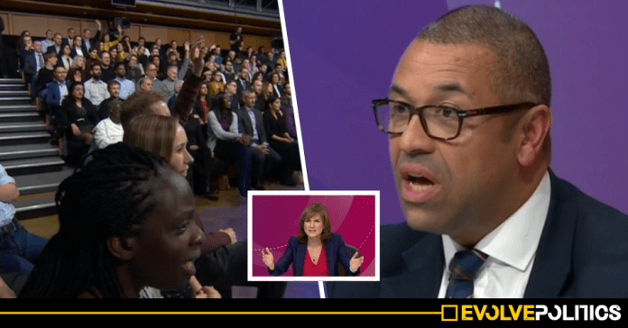 WATCH: Tory MP James Cleverly gets laughed at and booed by Question Time audience for ridiculous non-answer [VIDEO]