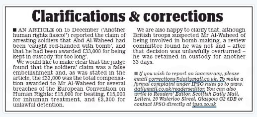 Daily Mail Another Human Rights Fiasco Correction