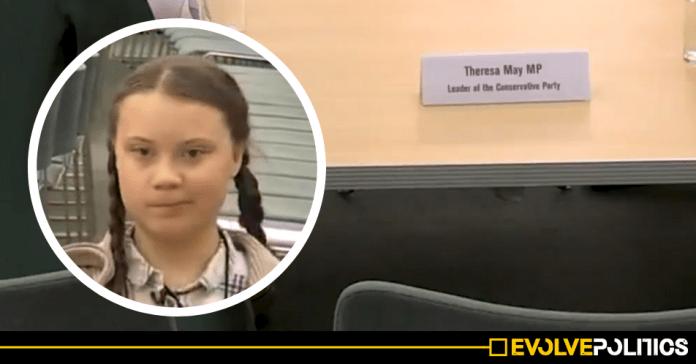 Theresa May shuns Environmental Activist Greta Thunberg at specially arranged meeting of UK Party Leaders