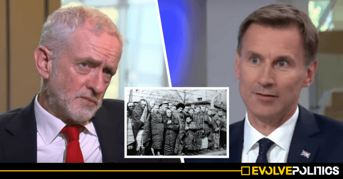 Jeremy Hunt slammed after using Auschwitz visit to imply that 'Corbyn could be the next Hitler'