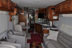 97 Monaco Signature interior, our new living room for our full time RV living adventure.