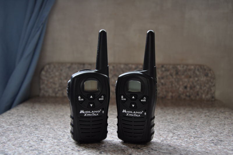 Walkie talkies that we use while backing up and when Adrianne is following the RV in the car on our full time RV living adventure.