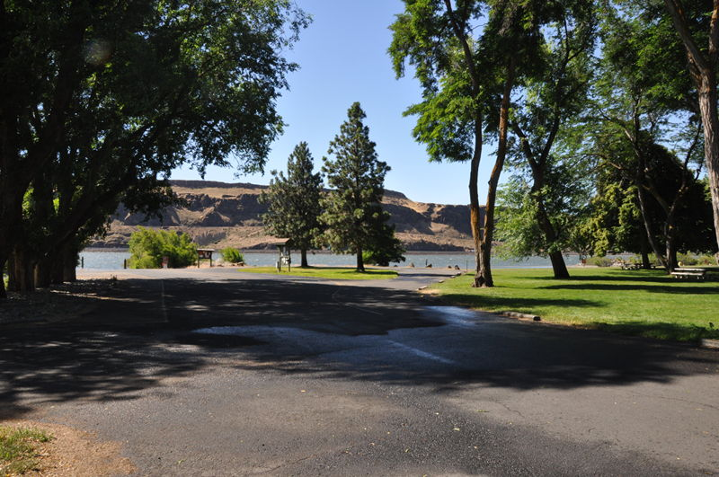 View of Maryhill State Park, we were camped right next door living full time in our RV.